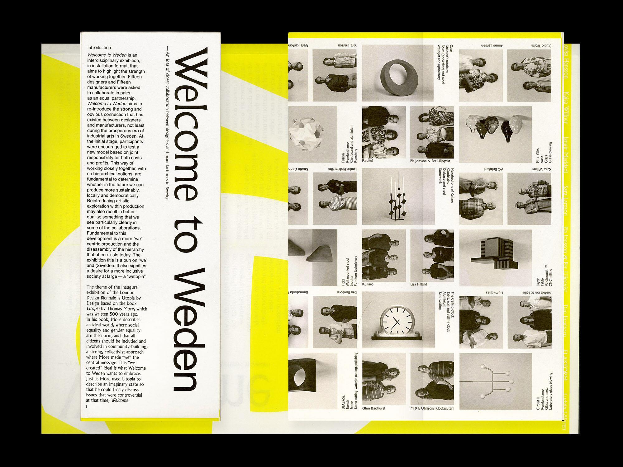 London Design Biennale Swedish Pavillion Welcome to Weden publication design