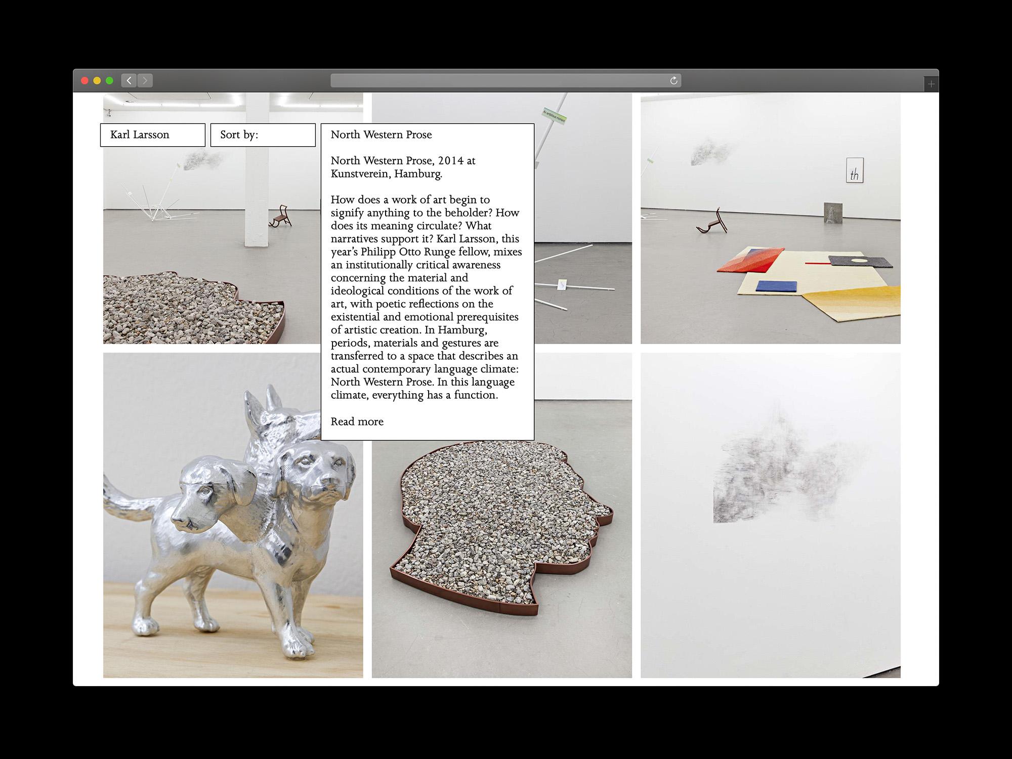 Karl Larsson website design