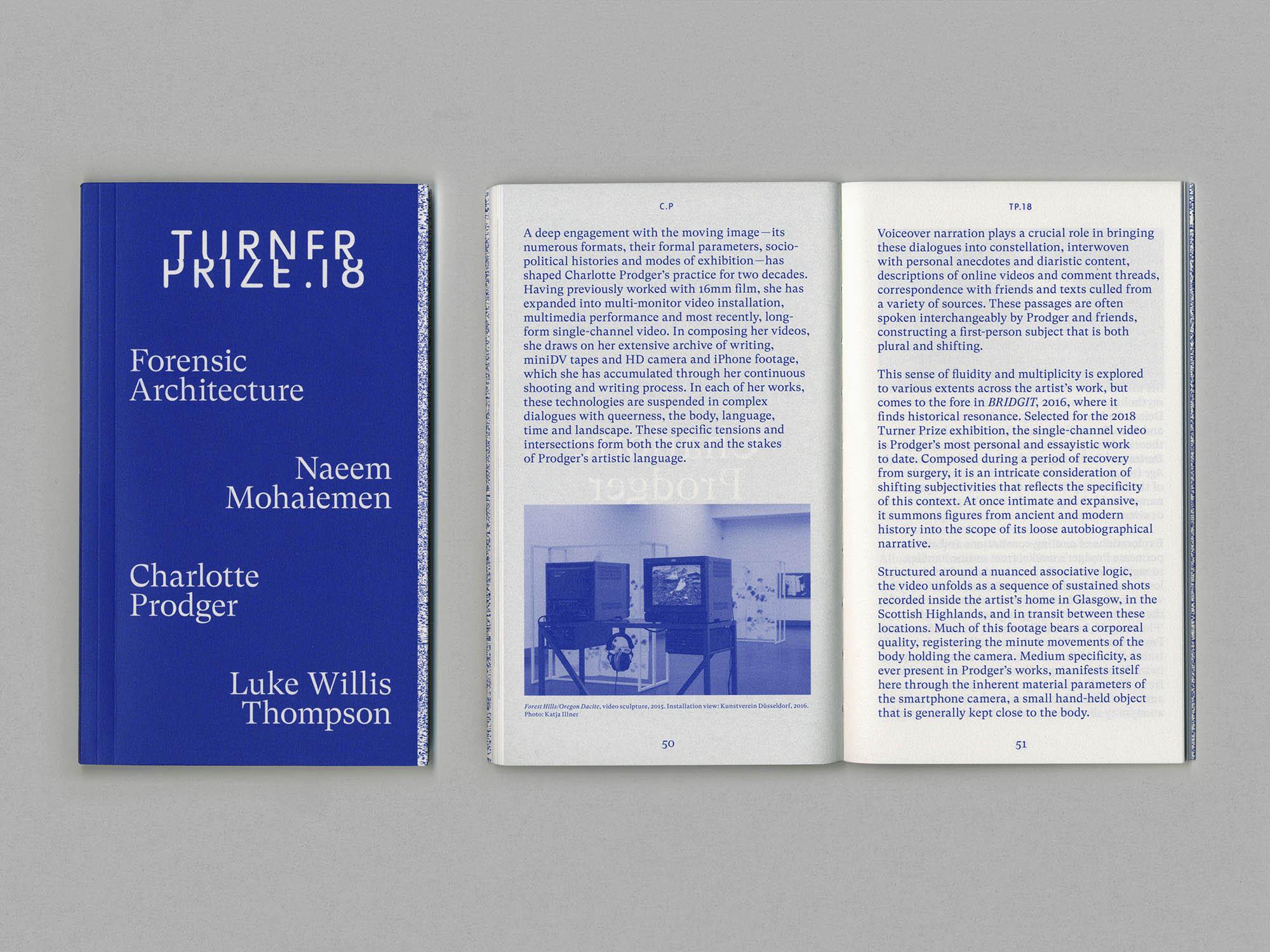 Turner Prize 18 Tate Britain exhibition catalogue