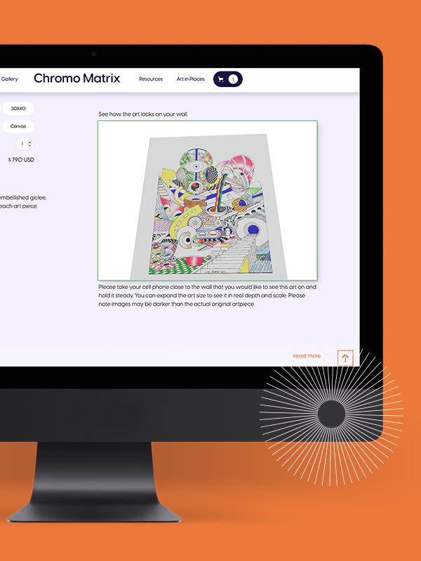 Chromomatrix - Art style in AR