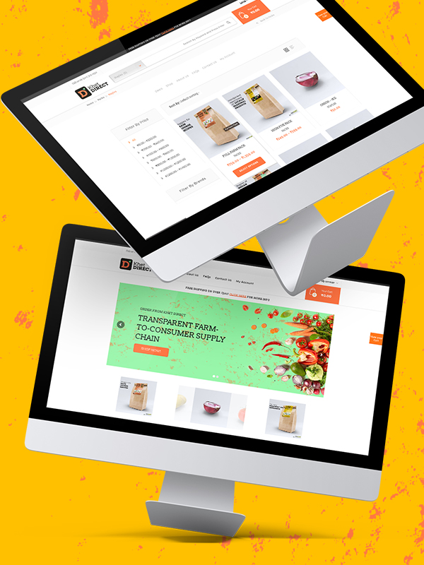 PulsAero built multiple web layouts for Khet Direct