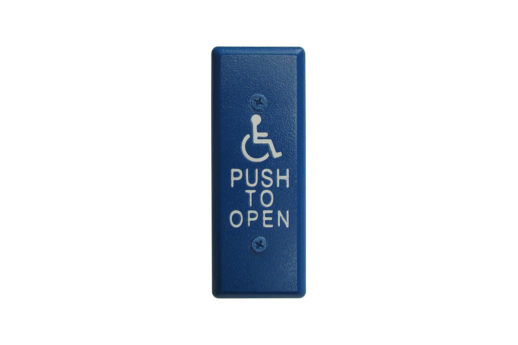 Camden CM-26CB Single Gang Blue Push Switch