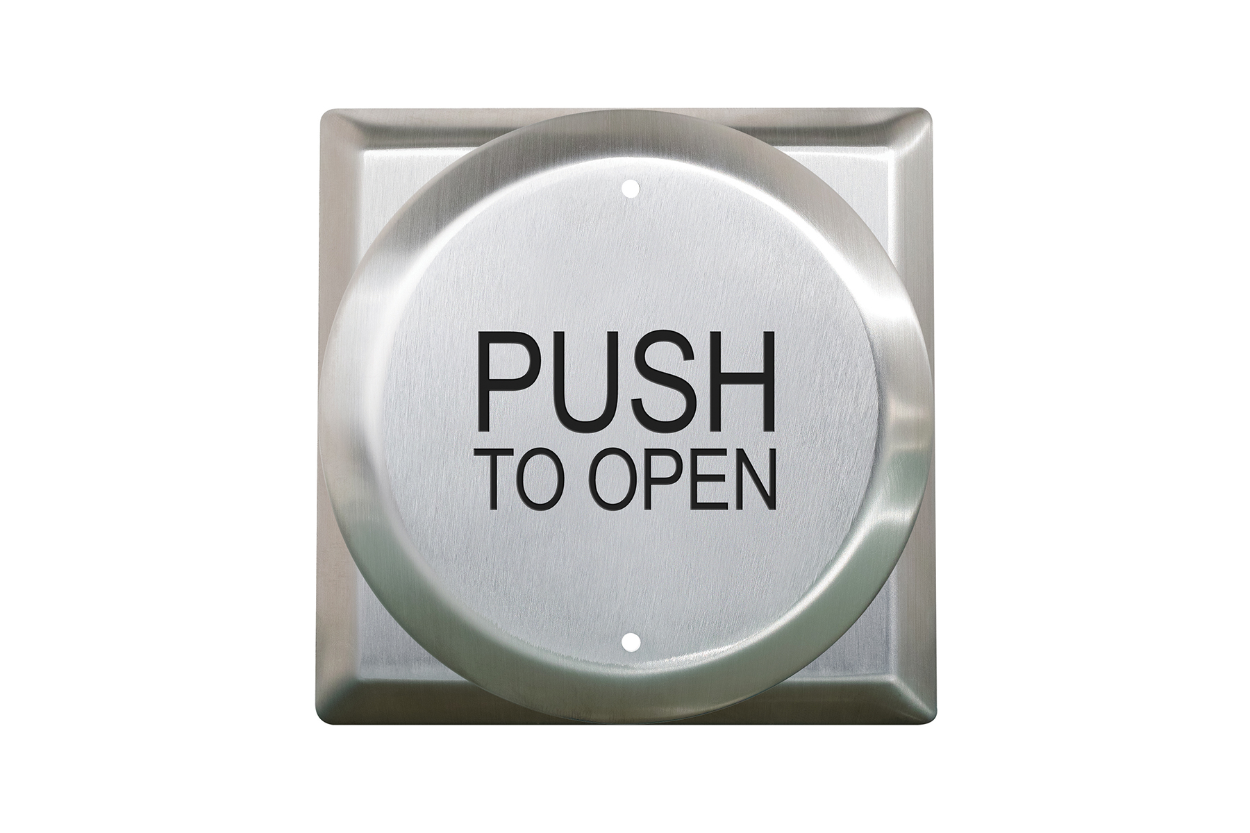 """CM-41 4 1/2"""" Round push plate switch with square back plate"""
