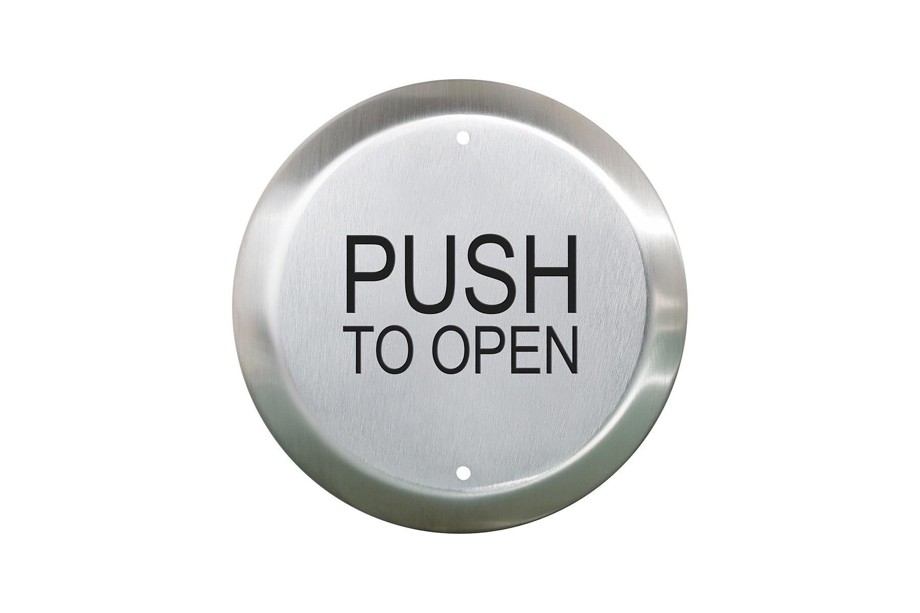 "CM-40 6"" Round Push Plate Switch"