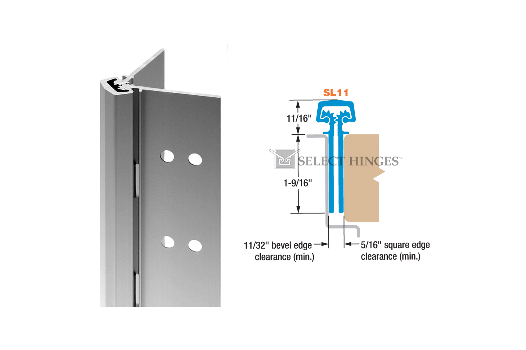 Select SL11 Continuous Hinge