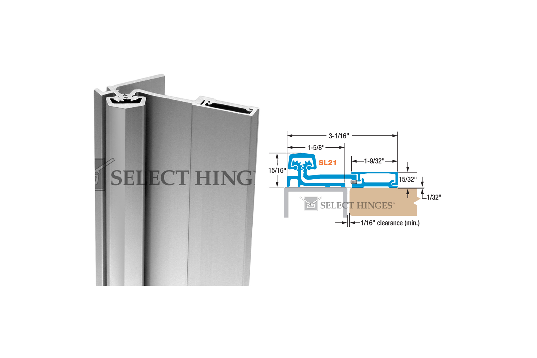 Select SL21 Continuous Hinge