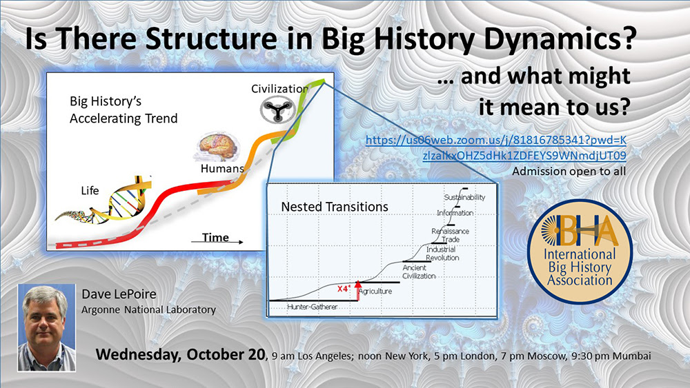 Is there structure in big history dynamics?