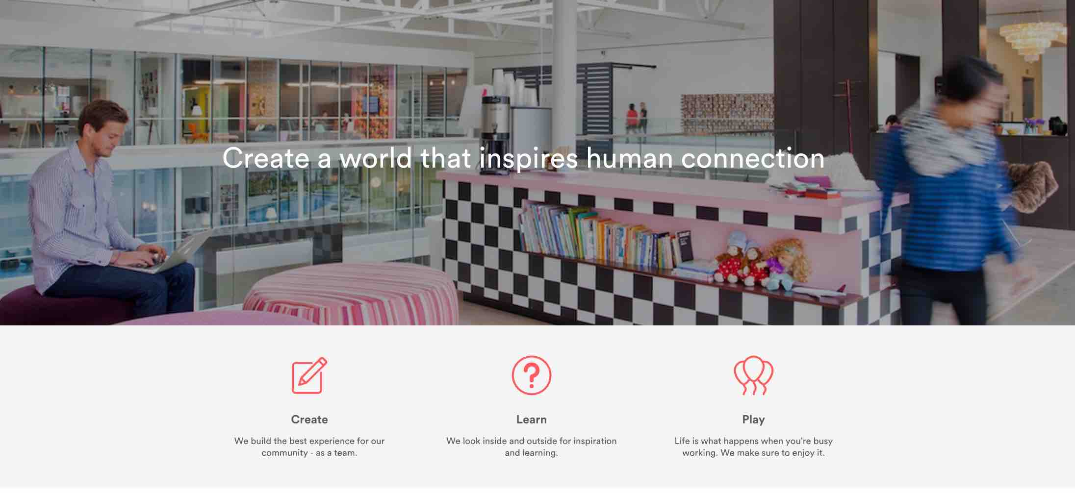 AirBnB's Awesome Career Page