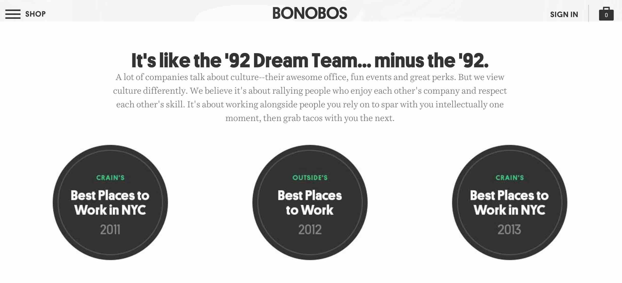 Bonobos Careers Page