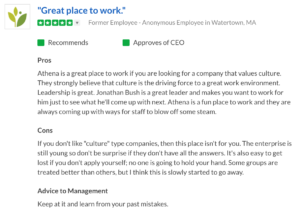 AthenaHealth Glassdoor Review