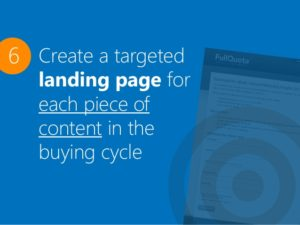 create targeted landing pages