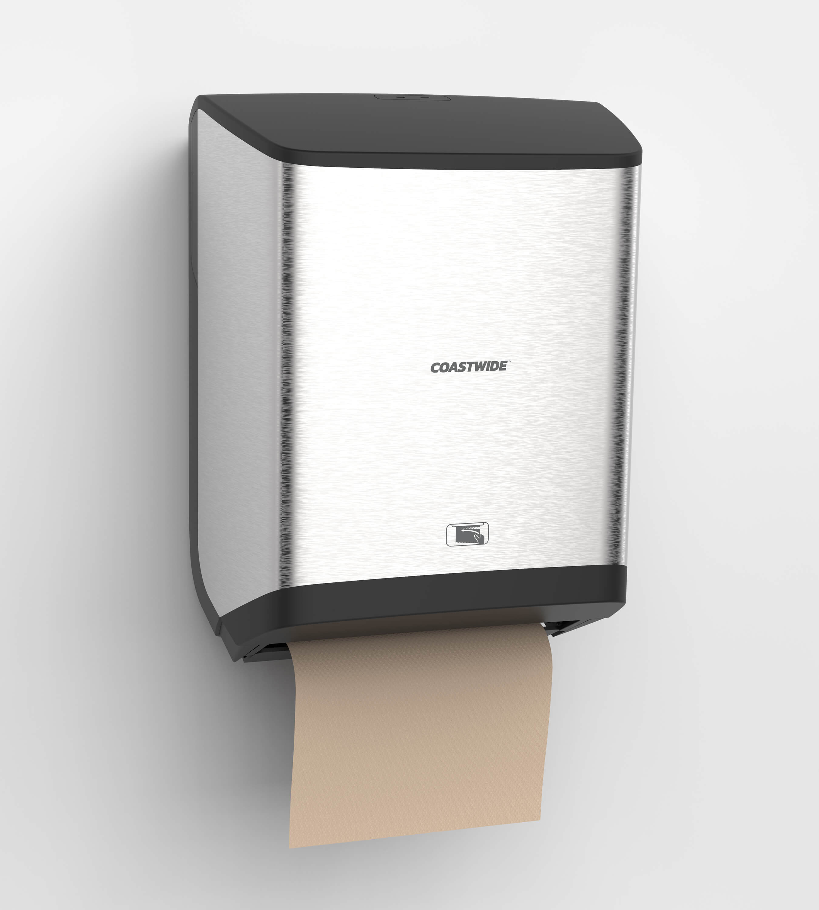 3D CAD Render by Sprout Studios of a paper towel dispenser
