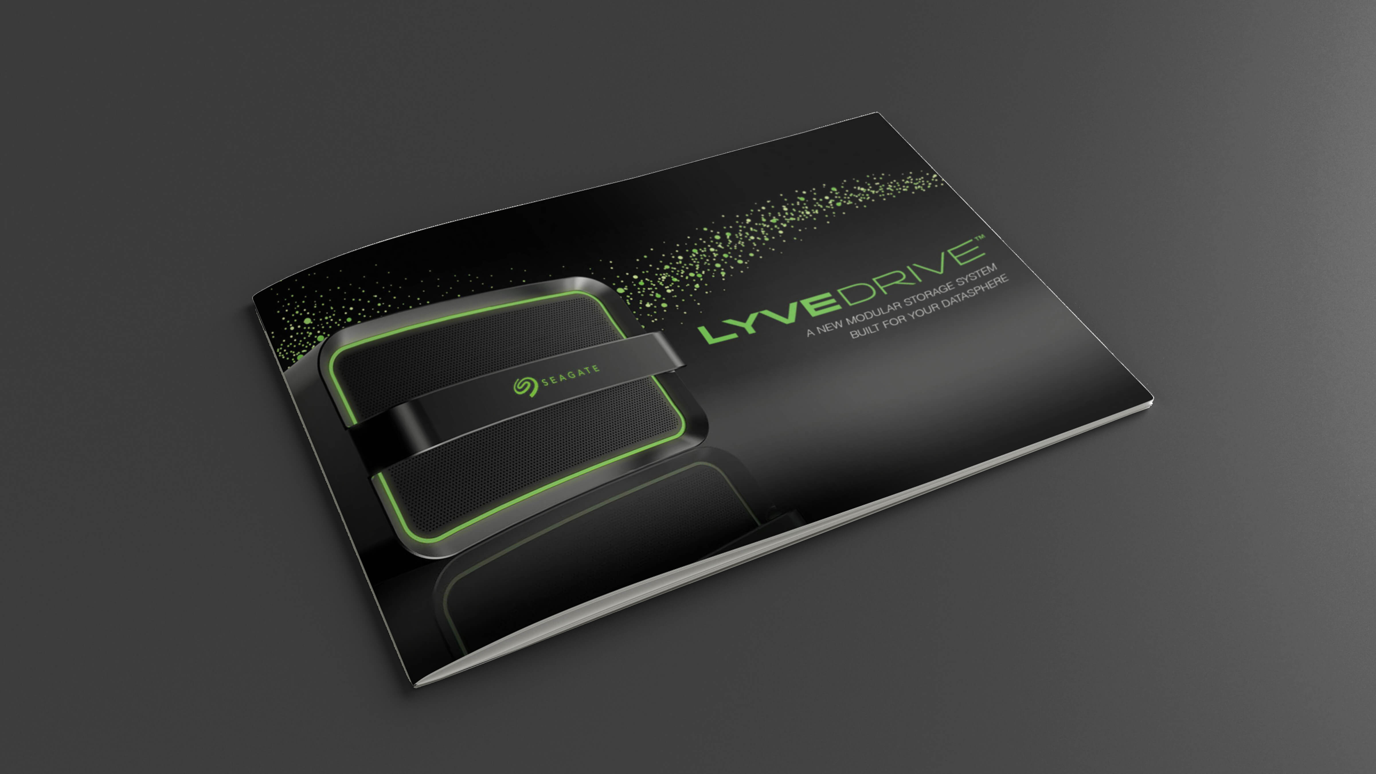 Mockup of Seagate Lyve Mobile Products Brochure