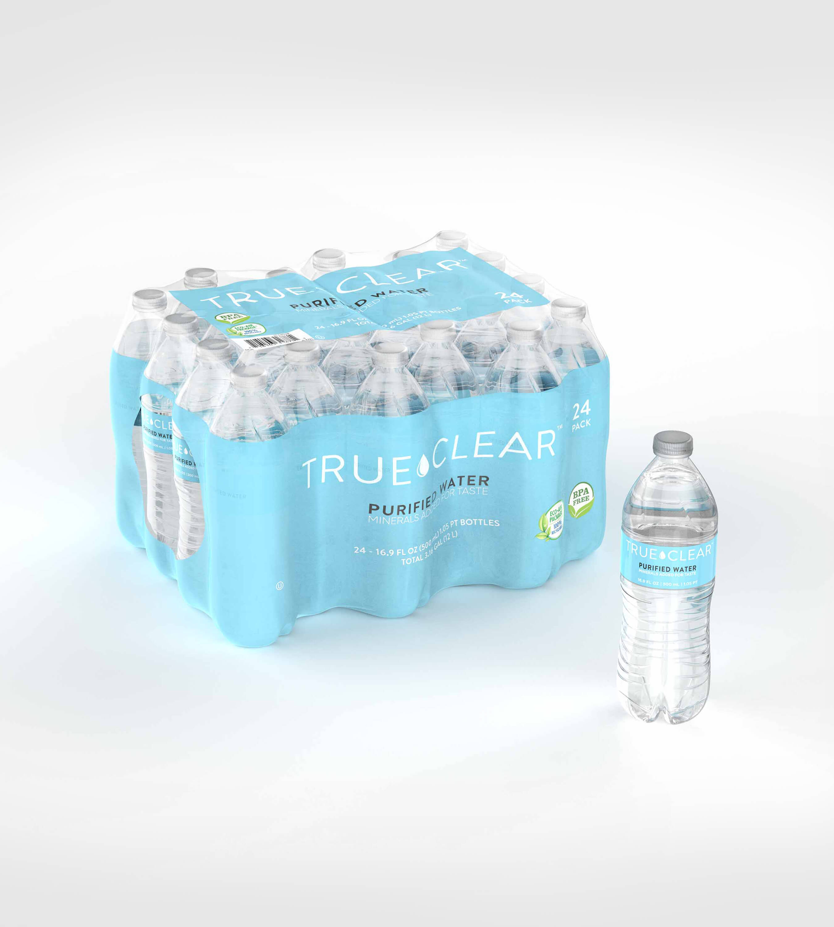 3D CAD Render by Sprout Studios of water bottles