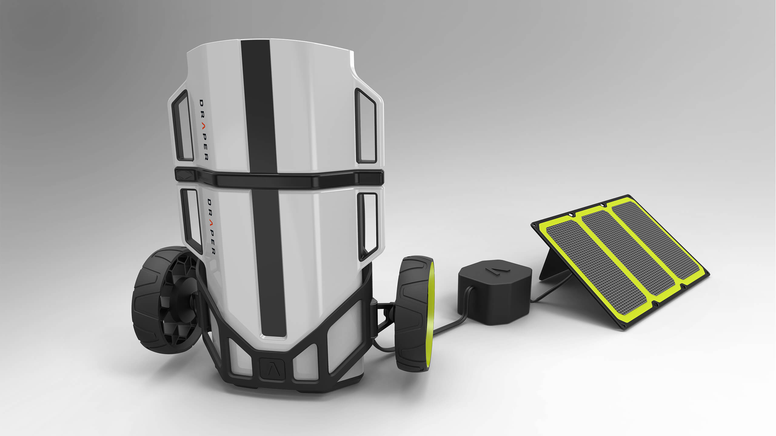 3D CAD Render by Sprout Studios of Draper Mobile Thermoelectric Refrigerator