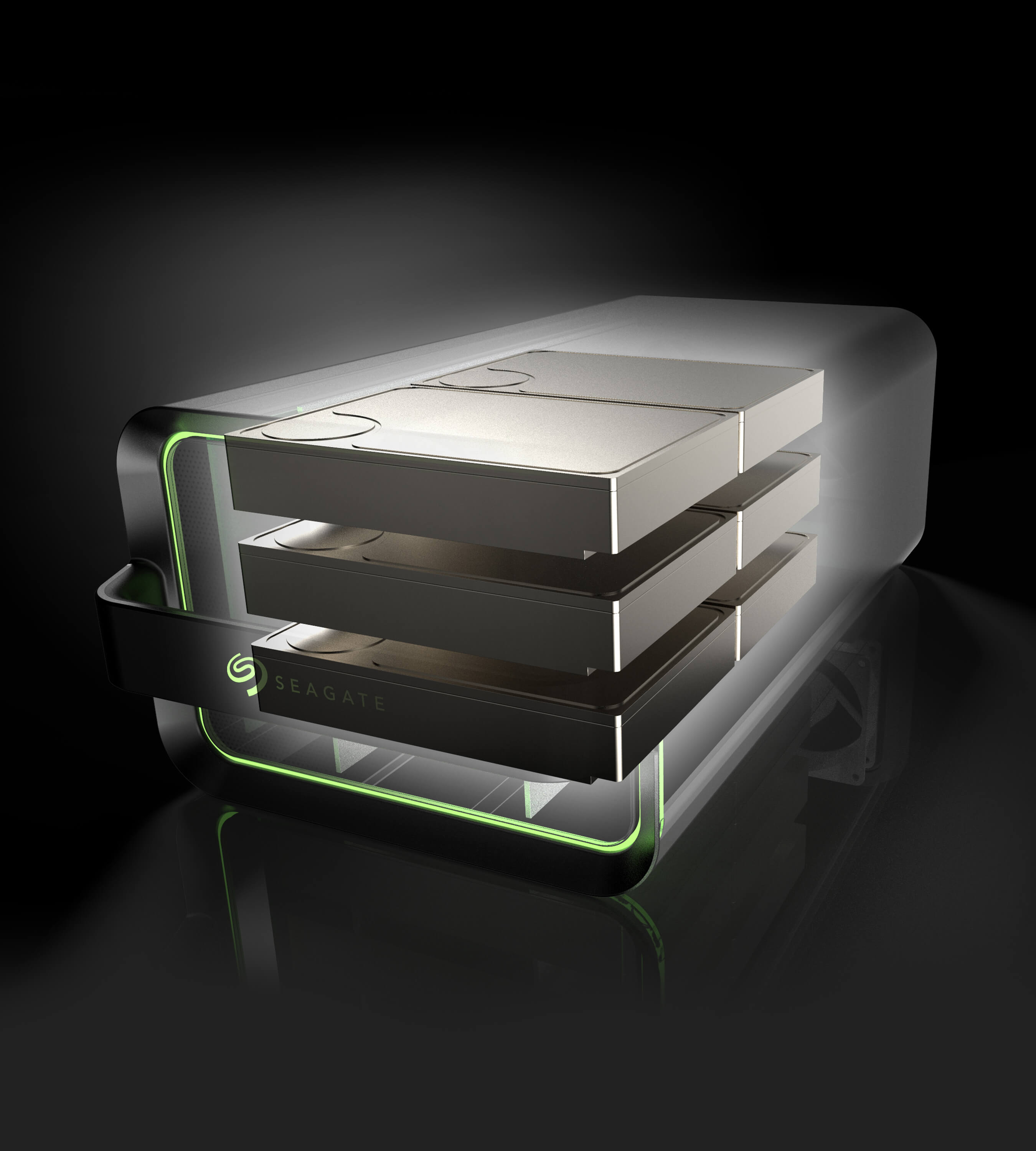 3D CAD Render by Sprout Studios of Seagate Lyve Mobile Products