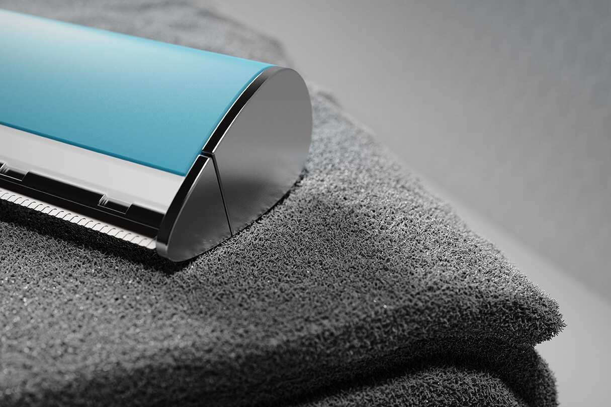 3D CGI Render of razor and towel from Sprout Viz