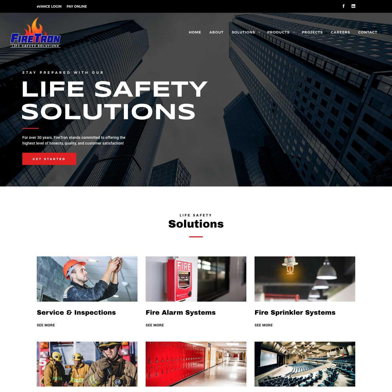 FireTron, Inc. Website Screenshot