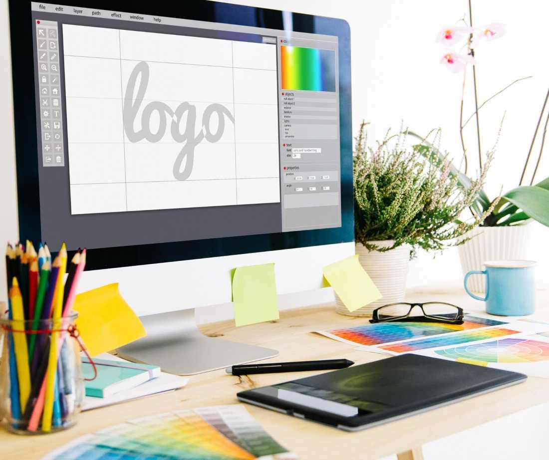 creating-logo-on-computer