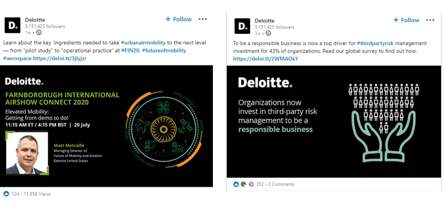Deloitte demonstrates expertise on social with webinars and surveys