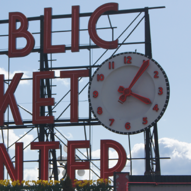 Public Market Center Sign