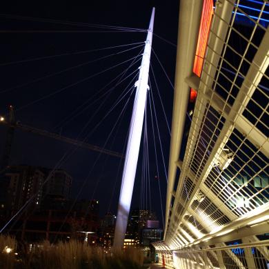 Bridge Lighting at Dusk