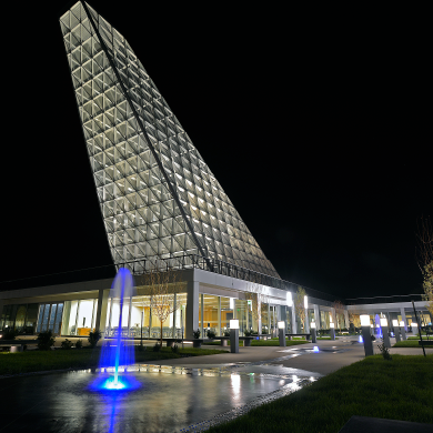 Air Force Academy Courtyard at Night