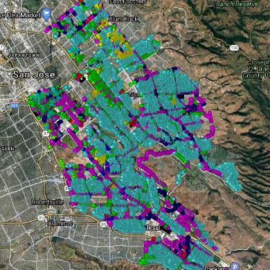 San Jose Street Light Locations