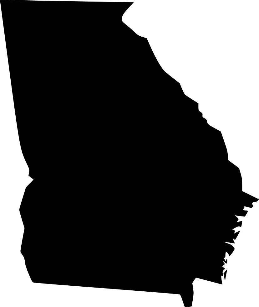 Georgia map cartoon