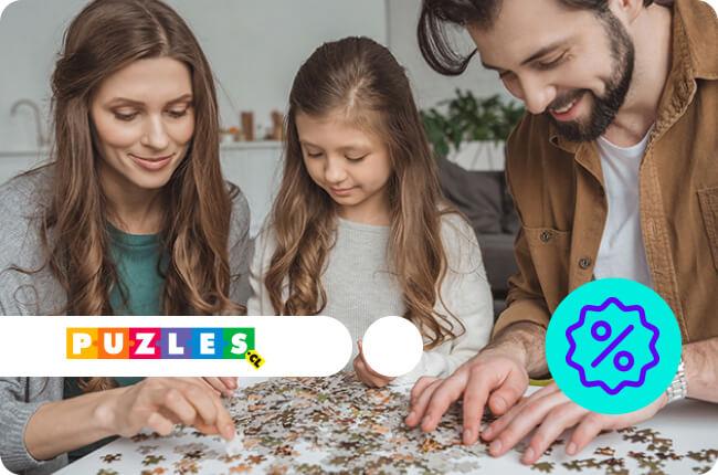 Puzzles para niños y adultos, de madera, 3D, casitas y juegos.