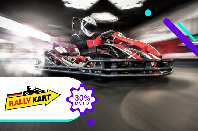 Con esta promoción da las vueltas que quieras y a la velocidad que más te gusta, aprovechando el 30% de dscto. en la compra online de tu ticket en Rally Karting.
