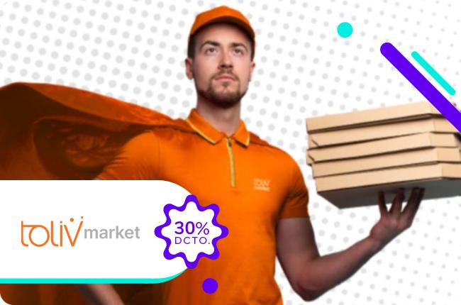 En septiembre dan ganas de celebrar todo el rato, por eso pide lo que quieras y cuando quieras en Toliv Market con un 30% de dscto. pagando con MACH en su sitio web o en su App.