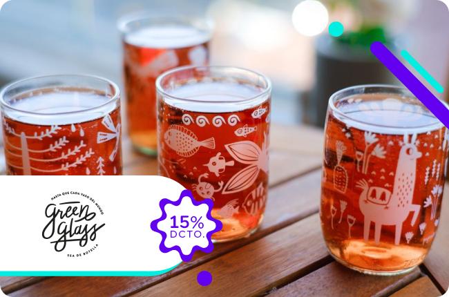Celebremos septiembre con un gran salud y con los mejores vasos. Obtén un 15% en los productos Green Glass comprando con MACH en su sitio web.