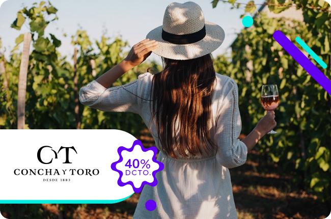 Descubre toda la magia de una de las viñas más importante de Chile. Obtén un 40% de dscto. todos los miércoles para realizar un tour en la Viña Concha y Toro pagando con MACH.