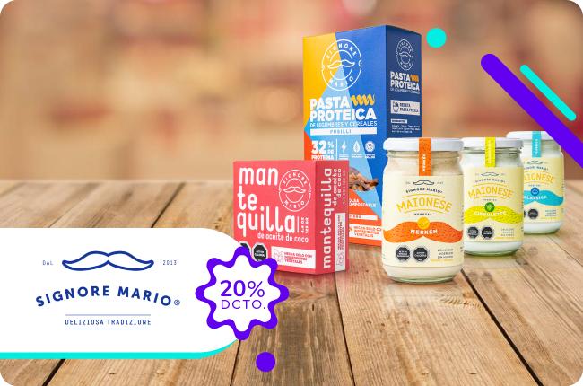 Porque en septiembre celebramos todos! Si eres vegan, aprovecha el 20% de dscto en mayonesas y productos Signore Mario comprando en su sitio web con MACH.