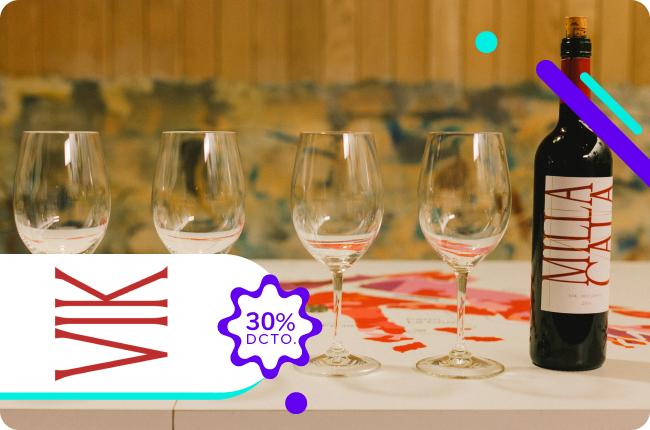 Ven a descubrir el maravilloso mundo de las viñas realizando un tour o degustación en la Viña VIK y obtén un 30% de dscto. comprando en su web con MACH.