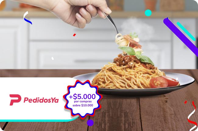 En Antofagasta todos disfrutan su plato preferido con esta promoción. Si compras sobre $10.000 en PedidosYa con MACH tienes $5.000 de regalo. 🤤🍕🥗