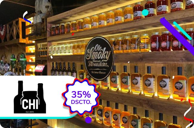 Calma la sed de septiembre y celebra con tu mejor brindis aprovechando el 20% de dscto. en Comercial CHI comprando en su web con MACH.
