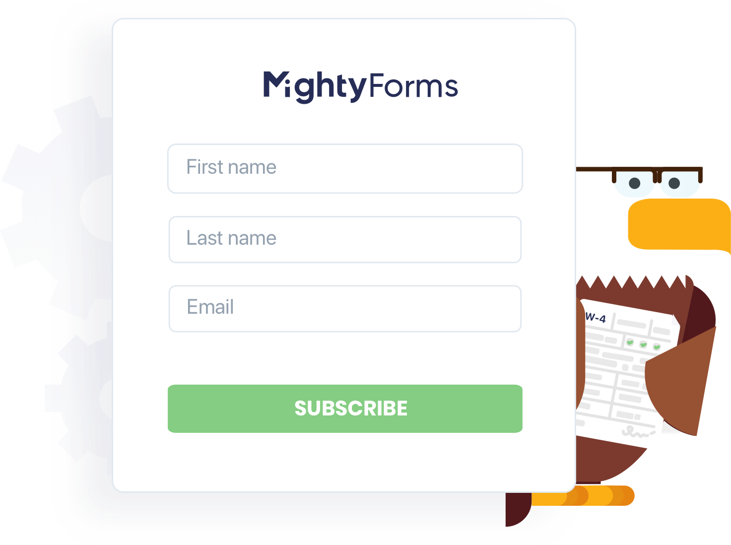 Screenshot of interface - Mightyforms