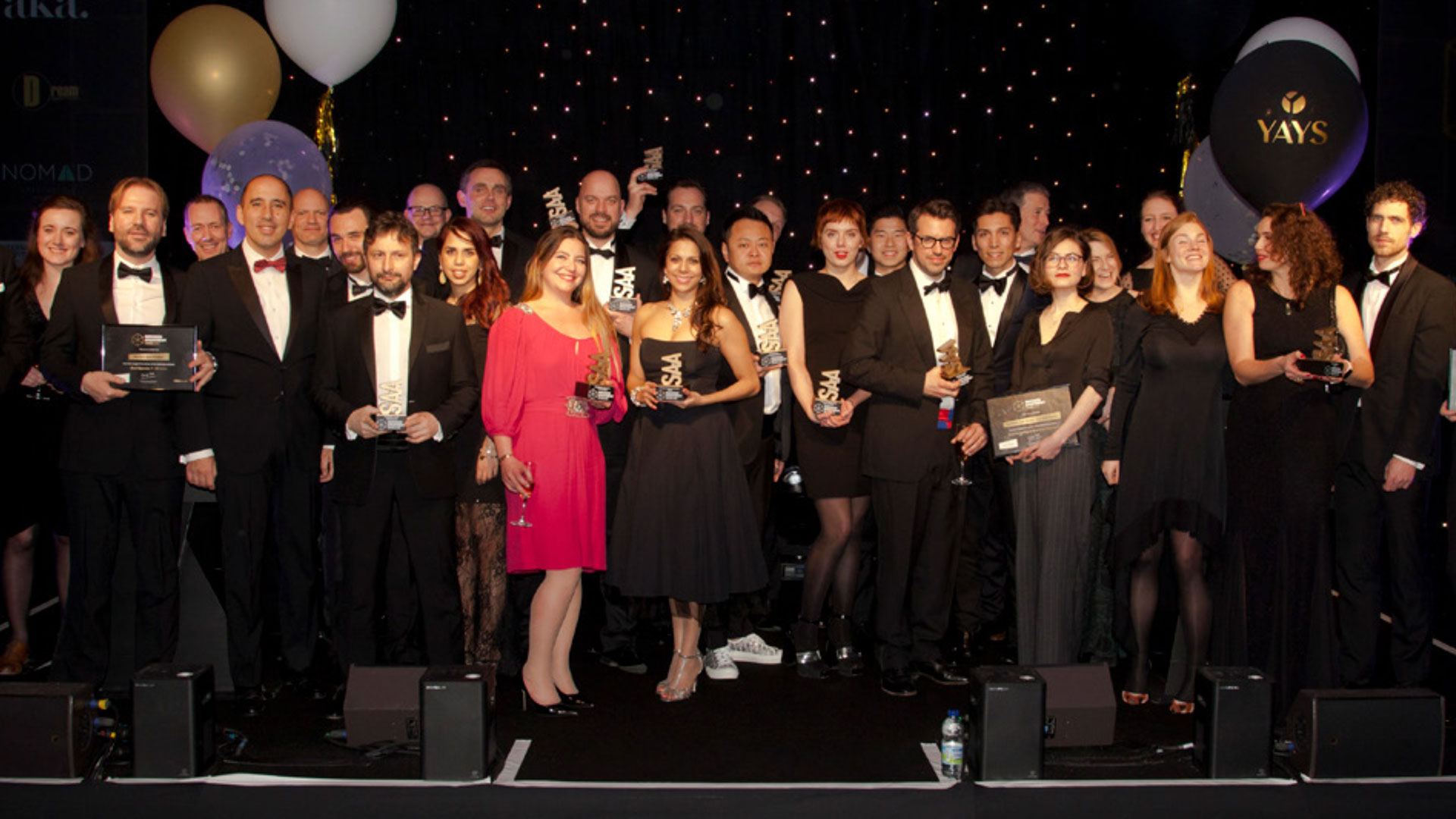 Picture of attendees of the Serviced Apartment Awards 2019. Stow-Away picking up two awards at the Serviced Apartment Awards 2019.