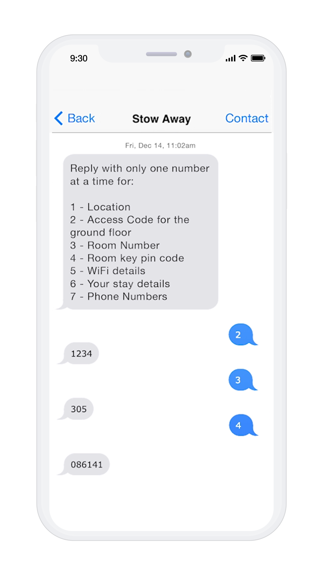 Screen shot of the Stow-Away App on a white iPhone 10 shaped phone. Did you know you can download and use our App to contactlessly access our building and your room. Keeping you safe in London's Eco-friendly Apart-Hotel.