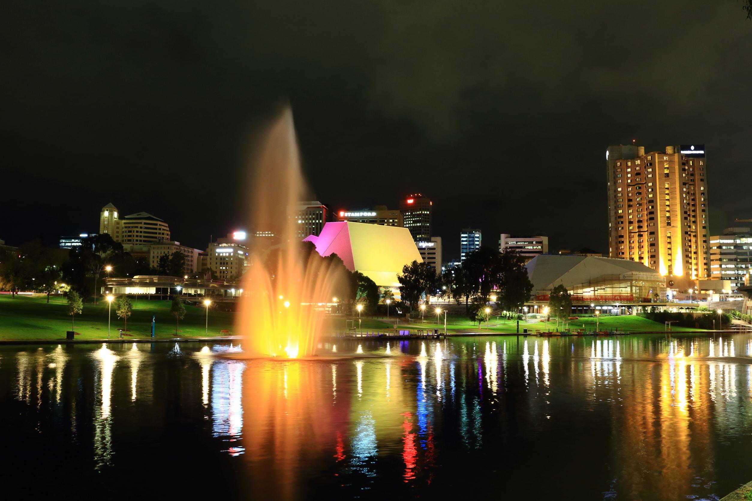 Adelaide skyline at night