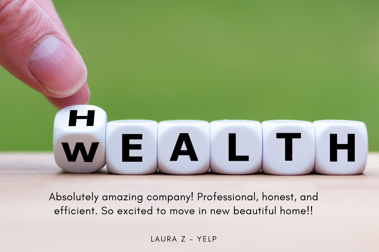 Health and Wealth - Laura Z left us a wonderful review