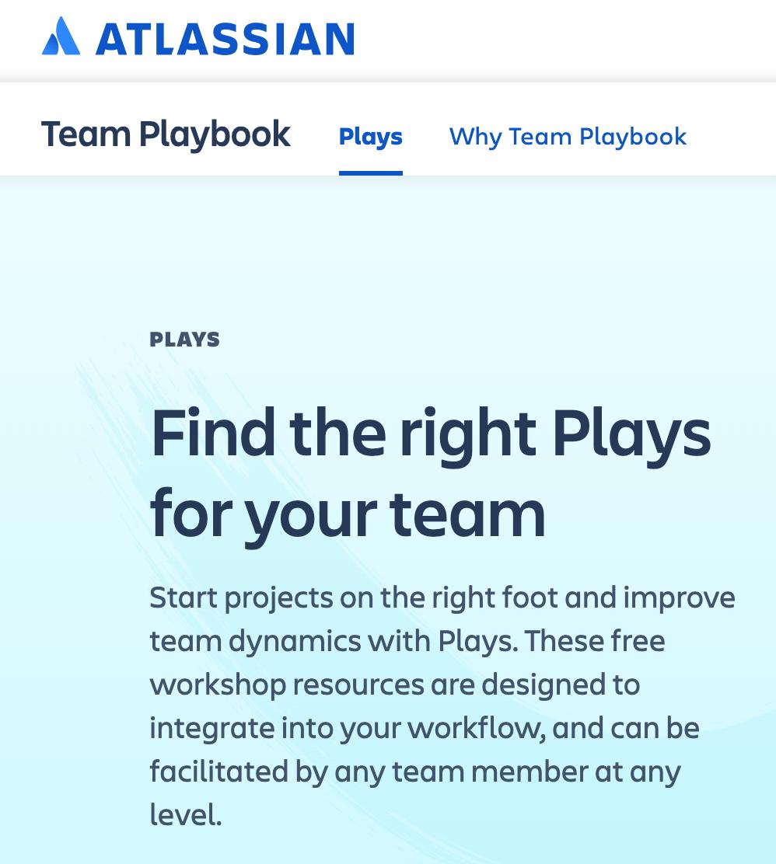 Atlassian Team Playbook - Agile Team Play