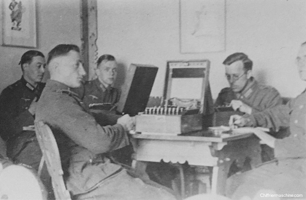 Photosof Enigmas in UsePhoto of an Enigma machine in use.
