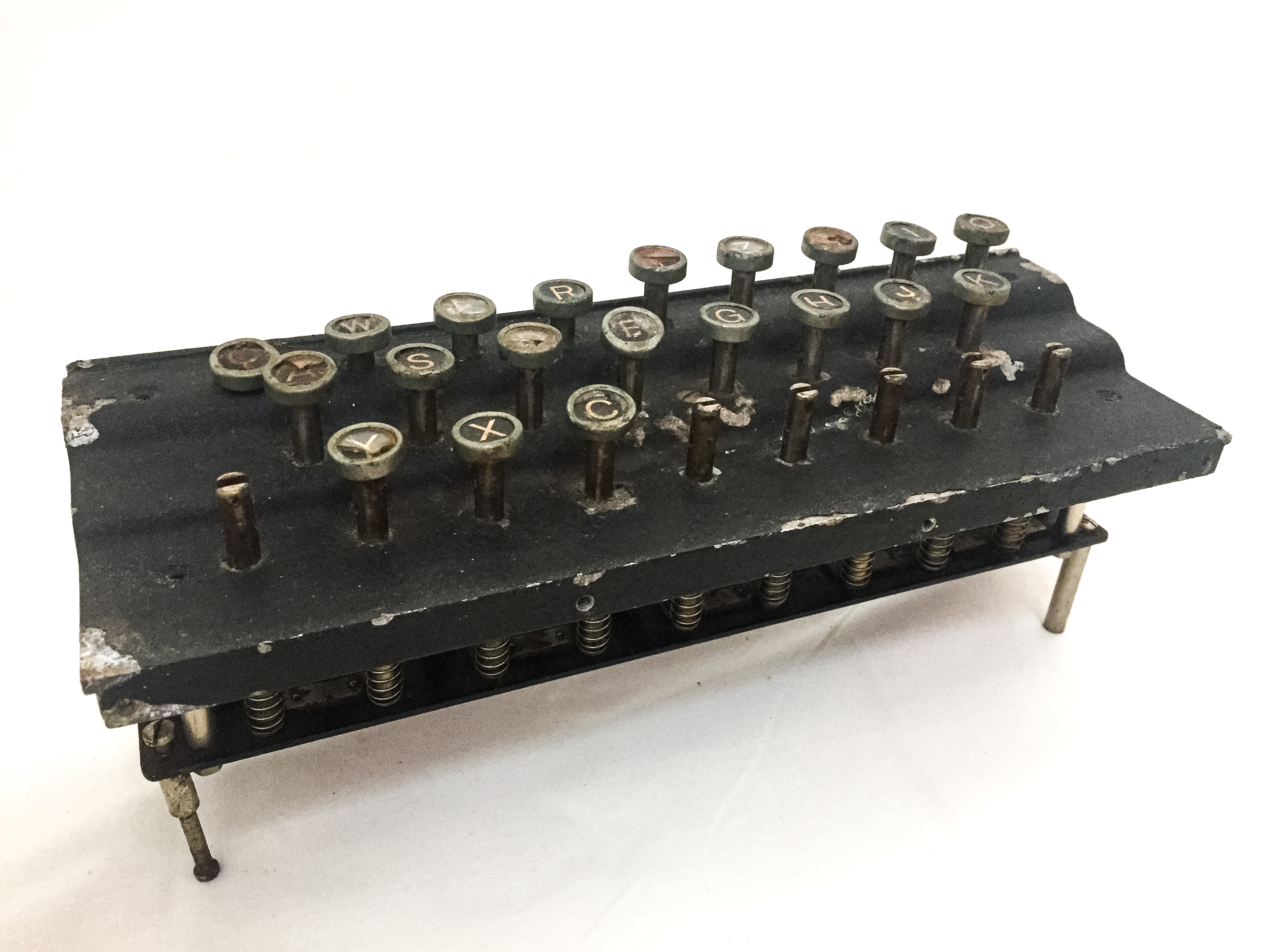 Keyboard from an Enigma machine.