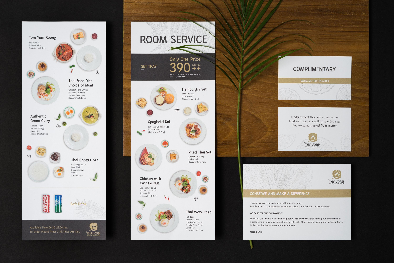 Menu | The Thavorn | Rebranding | Simplisis | Branding | Phuket | Creative | Design