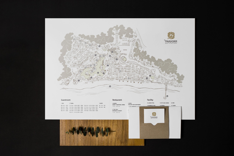 Map | The Thavorn | Rebranding | Simplisis | Branding | Phuket | Creative | Design