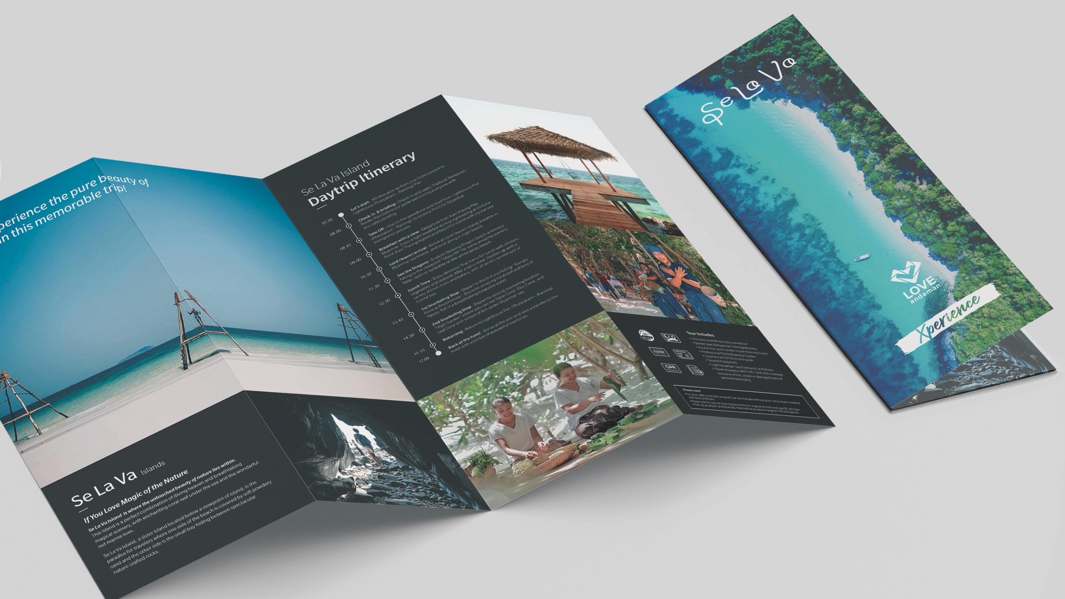 Brochure Selava experience branding Phuket Simplisis Design