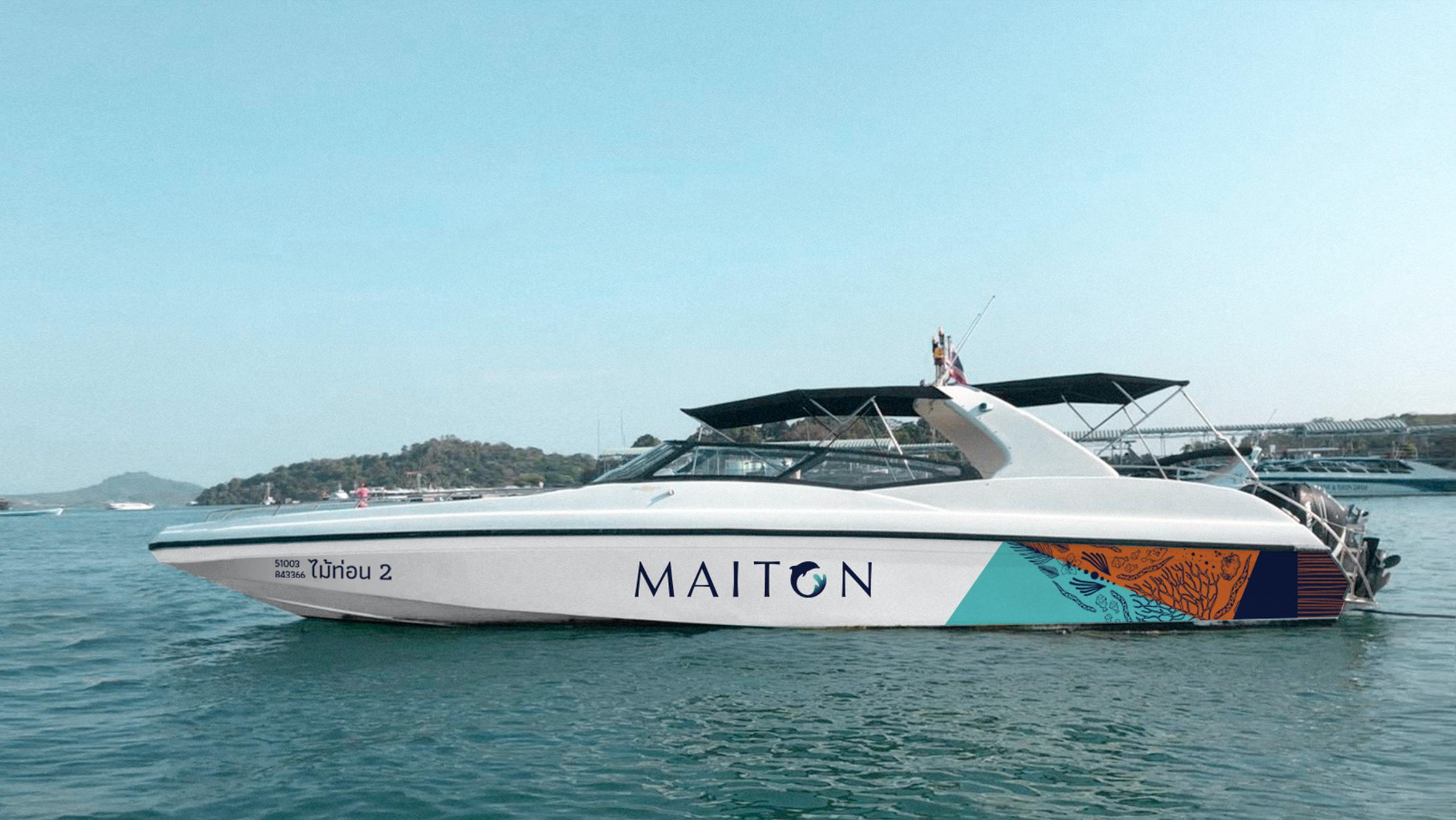 Speed boat | Maiton | Simplisis Design Studio | Branding Design Agency in Phuket